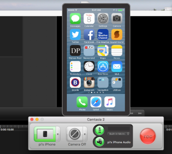 camtasia and iphone recording