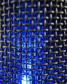 microphone-blue-light