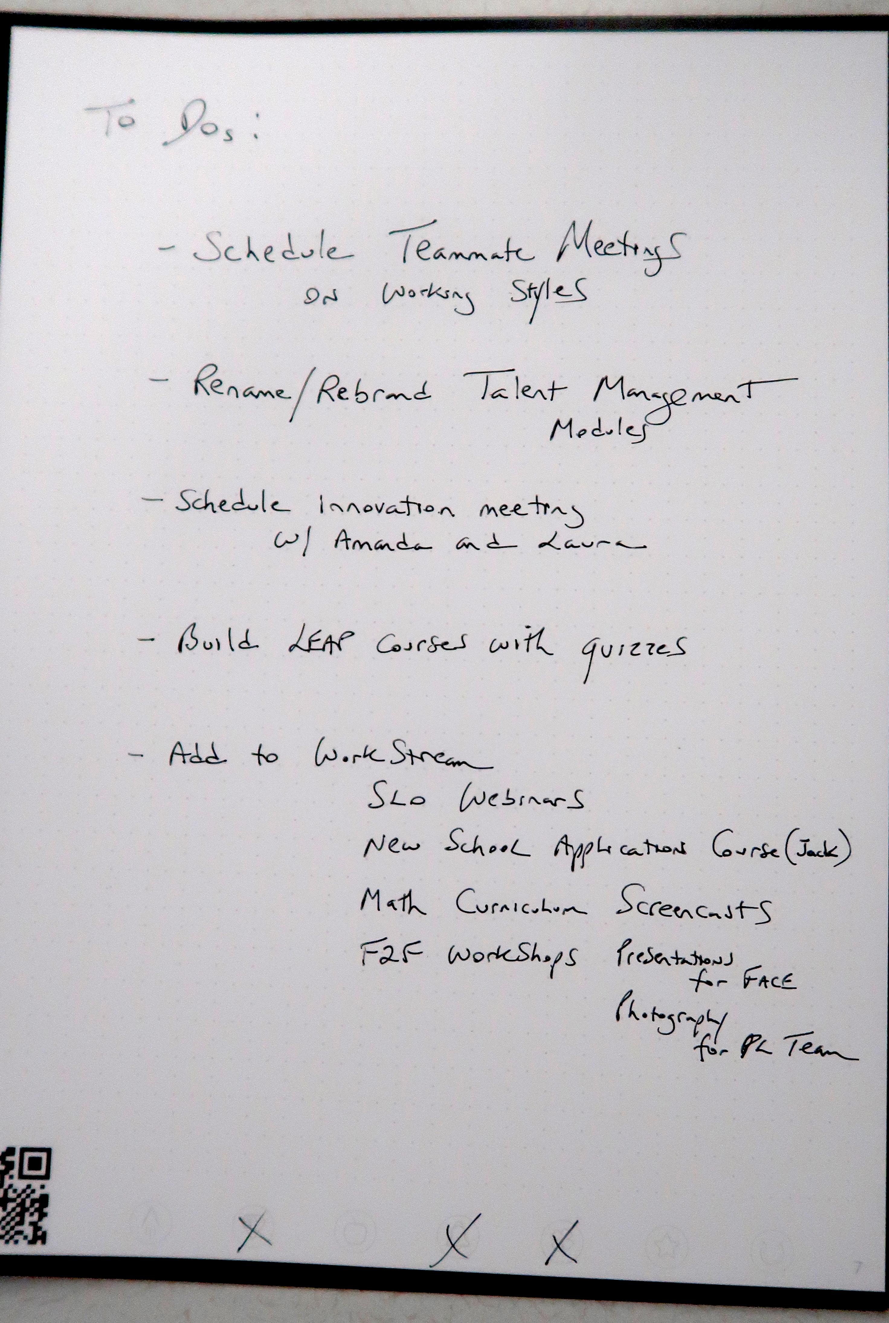notes taken
