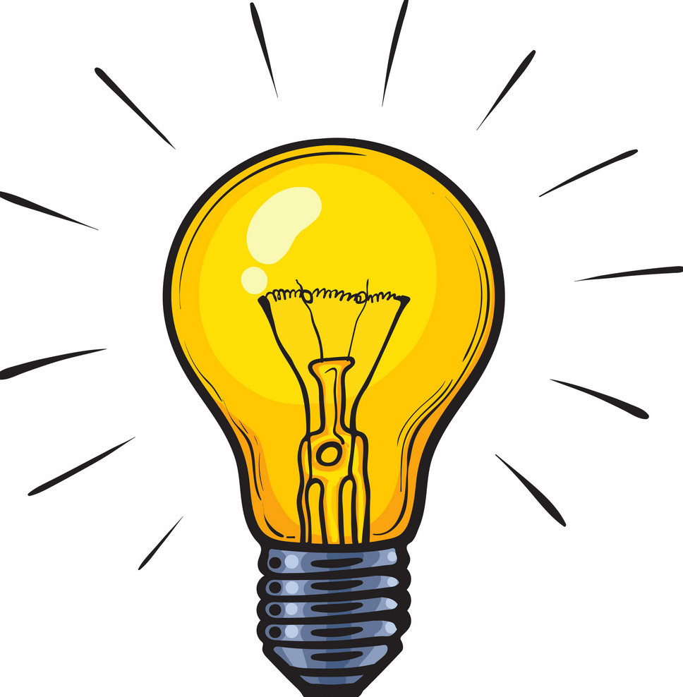 light bulb signifying ideas